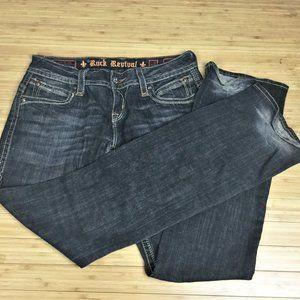 Rock Revival Gwen Easy Boot Denim Blue Jeans 28